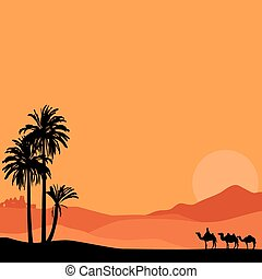 background with desert - summer vacation African tour
