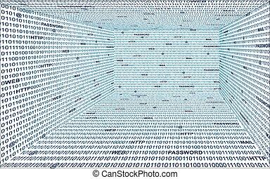 Technology binary, background