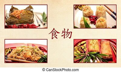 chinese food, collage