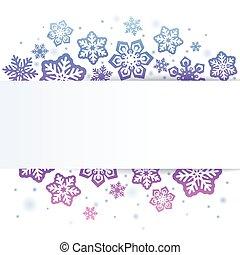 Snowflakes on white Christmas background