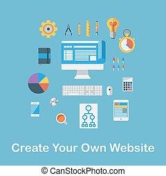 créer, ton, Propre, site web,