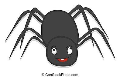 straszliwy, pająk, Halloween, rysunek,