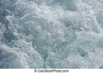 Blue water textures, waves foam, action, sea - Blue water...