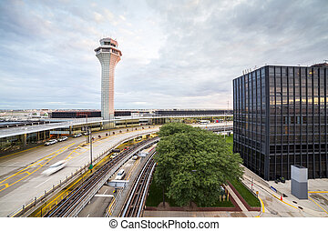 Air traffic control tower and multilevel infrastructure