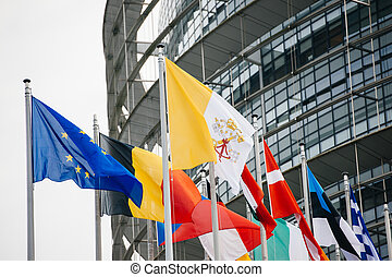 Vatican and all European Countries Flags - Vatican flag is...