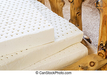natural latex mattress - exposed layers of natural latex...