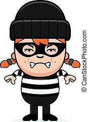 Angry Cartoon Little Burglar