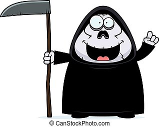 Cartoon Grim Reaper Idea - A cartoon illustration of a grim...