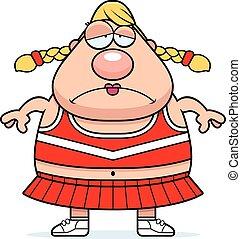 Sad Cartoon Cheerleader