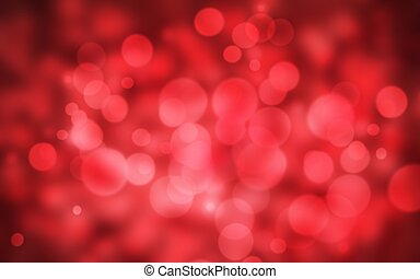 Red holiday bokeh. Abstract Christmas background