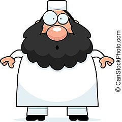Surprised Cartoon Muslim - A cartoon illustration of a...