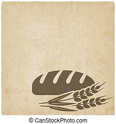 bread bakery symbol old background - vector illustration eps...