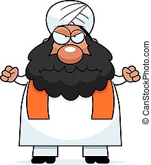 Angry Cartoon Sikh - A cartoon illustration of a Sikh...