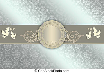 Wedding invitation - Template of wedding invitation card...