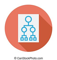 Flowchart Single flat color icon Vector illustration
