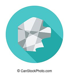 Creazy paper Single flat color icon Vector illustration