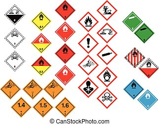 Labelling of chemicals in tables