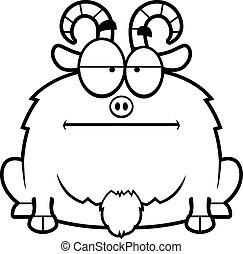 Calm Little Goat - A cartoon illustration of a little goat...