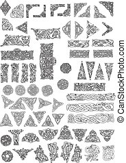 Celtic style design elements - Huge pack of celtic design...