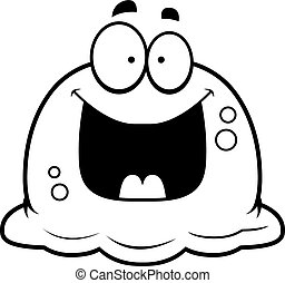 Happy Little Booger - A cartoon illustration of a booger...