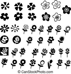 Cute flowers - Big collection of different style flower...