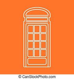 Vector telephone box icon. Eps10 - Vector british telephone...