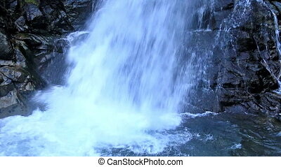 Beautiful veil cascading waterfall