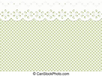 Festoon or ornament on spotted pattern - endless - endless...