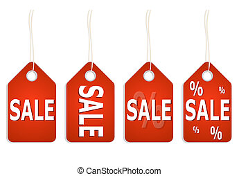 red pendant with SALE