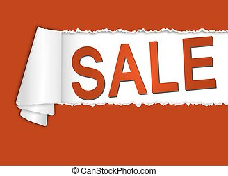 torn-paper with SALE