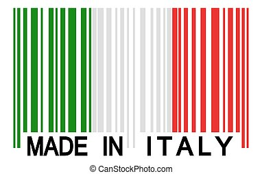 barcode - MADE IN ITALY - bar code with italian colors and...