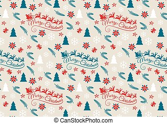 Seamless Christmas pattern, vector