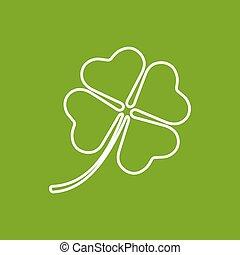 Vector clover icon. Eps10