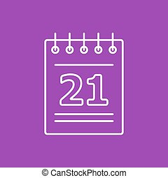 Vector calendar icon. Eps10 - Vector flat calendar icon...