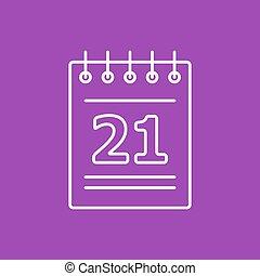 Vector calendar icon Eps10 - Vector flat calendar icon...