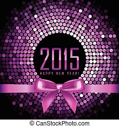 Vector Happy New Year 2015 background with disco lights and...