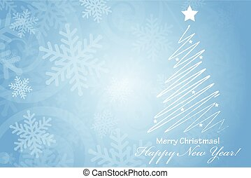Vector Merry Christmas & Happy New Year background with space fo