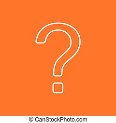 Vector question mark icon Eps10 - Vector white flat question...