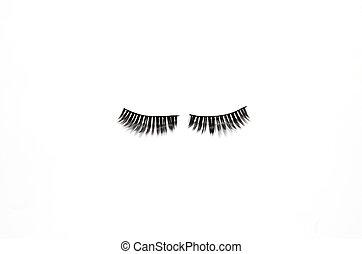 eyelashes isolated on white background