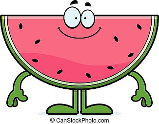 Happy Cartoon Watermelon