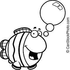 Talking Cartoon Clownfish - A cartoon illustration of a...