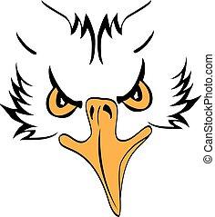 Eagle Head Profile - Illustration of a side face eagle head