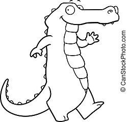 Alligator Walking