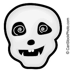 Hypnotized Halloween Skull - Funny Hypnotized Halloween...