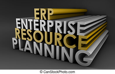 Enterprise Resource Planning ERP 3d Concept Art