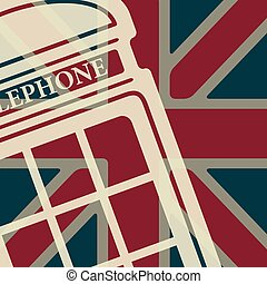 Vector telephone box icon. Eps10 - Vector british red...