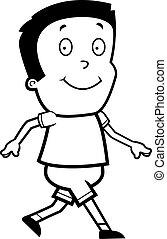 Cartoon Boy Walking