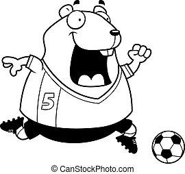 Cartoon Hamster Soccer