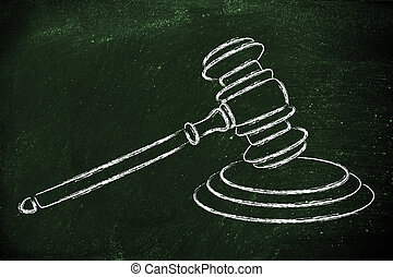 law and courts: judges gavel illustration - judges gavel...