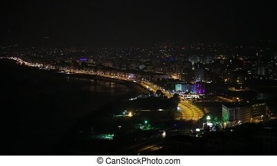 Night city - Night lights of the city in Alanya, Turkey